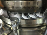 Machine rotatoire de presse de comprimé avec le conducteur de précompression et de force
