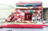 安いカスタマイズされたカウボーイのおもちゃの膨脹可能な警備員の城のスライド