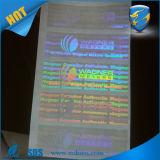 Autoadesivo/contrassegno trasparenti autoadesivi su ordinazione poco costosi dell'ologramma di prezzi di fabbrica di stampa