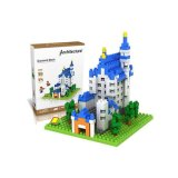 6739380-New Swan Stone Castle Diamond Building Block Jouet éducatif