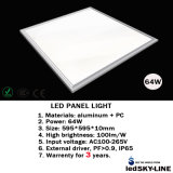 External Driver를 가진 세륨 Approvalled 595*595mm 64W Embeded LED Panel Light