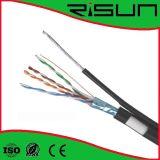 Im FreienCat5e Netz-Kabel mit Stahlkurier u. doppelter Umhüllung (PVC+PE)