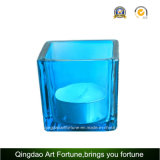 Glass quadrato Candle Holder per Home Decor
