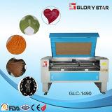 Máquina do laser do CO2 do couro da estaca do CNC da câmara de ar de vidro de Glorystar 100W