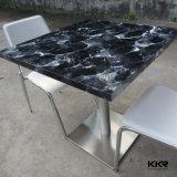 Tabella di superficie solida pranzante di pietra artificiale della mobilia per il ristorante