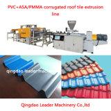 PVC+ASA de golfMachine van de Uitdrijving van de Tegel van het Dak van het Blad van het Dakwerk