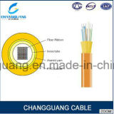 Do cabo interno da fibra óptica de Gjfdv preço interno do cabo da fibra da fita único/multi da modalidade da fita cabo de fibra óptica por o medidor