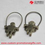 Supporto chiave di Keychain del metallo poco costoso del ponticello del regalo di promozione
