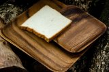 Vente en gros en bois de plateau de la nourriture 2016 de plateau de plateau en bois de portion