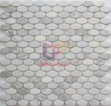 Het ovale Mozaïek van de Steen van de Vorm Natuurlijke Marmeren (CFS1083)