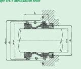 Selo mecânico do fole de borracha de Burgmann (HU5)