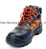 Chaussure de sûreté industrielle de cuir véritable de vente chaude (SN1516)