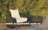 円形のPEの藤の柳細工の家具の庭のソファー一定Bp858