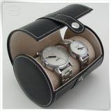 Caixa de relógio feita sob encomenda de couro do plutônio dos pares Eco-Friendly para o homem