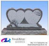 Luz - monumento & lápide dobro eretos cinzentos do coração de /Red G633