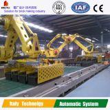 Machine de réglage robotique dans une usine de briques entièrement argileuse