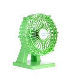 Mini ventilateur tenu dans la main portatif en plastique de roue de Ferris mini