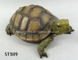 De realistische Bruine Gedetailleerde Dierlijke Eigenschap van het Ornament van de Tuin van de Schildpad van de Hars
