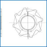 Двойные цепь и цепное колесо ролика транспортера шабера