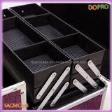 Casi supplementari di vanità di trucco del coccodrillo viola grandi con i cassetti di plastica (SACMC055)
