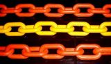 鎖を打つ塗られたG80長いリンク