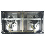 Fornello di gas di vetro del doppio bruciatore con sicurezza completa Jp-Gcg210