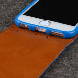 boven en beneden Flip Leather Case Cover voor iPhone 6s