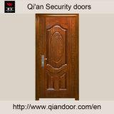 Porte d'entrée en acier Polished avec l'âme en nid d'abeilles