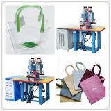 saldatrice di plastica ad alta frequenza della doppia stazione 5kw per la saldatura del sacchetto del PE del PVC dell'unità di elaborazione, saldatore della plastica del Ce