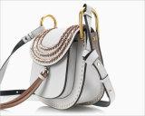ふさおよび編まれたフリンジPUの肩のハンドバッグWzx1087が付いている散りばめられた方法袋