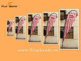 2.8m Outdoor Advertizing Customized Teardrop Flag /Beach Flag