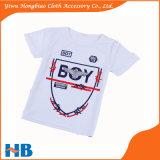 O algodão caçoa o vestuário das crianças da camisa do verão T do menino da impressão