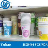 Wegwerfpapiercup, einzelnes Wand-Papiercup, kaltes Getränk-Papiercup