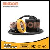 Lámpara de casquillo brillante estupenda de seguridad del minero de la sabiduría Kl5m, lámpara de mina