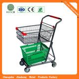 Metallsupermarkt-Einkaufswagen (JS-TAM04)