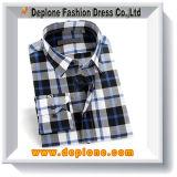 Ultimi disegni della camicia del plaid superiore su ordinazione all'ingrosso del cotone per gli uomini