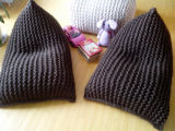 Hand Knitted fauler Keil-Bohnen-Beutel-Sofa-Kissen-Sitzsack