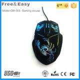 Bon marché et souris ergonomique de jeu de la qualité 6D avec la DEL colorée