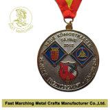 Médaille courante de sport de marathon de récompense pour le souvenir