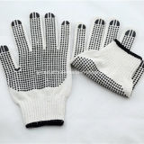 Gant de travail tricoté 10 par mesures avec des points de PVC