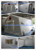 팽창식 기복 비상사태 대피소로 사용되는 의학 구조 천막