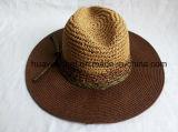 Sombreros de papel del safari del estilo del ocio de la paja del 85% 10%Polyester 5%Raffia