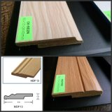 Wooden FlooringのためのCk MDF Wood Skirting Basrboard Wrapped PVC Foil