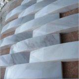 대리석 또는 화강암 Bianco Carrara 대리석 모자이크 타일 또는 훈장 또는 백색 까맣고 또는 베이지색 또는 녹색 또는 노란 또는 브라운 대리석