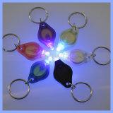 Kundenspezifischer Schlüsselring Keychain der Firmenzeichen-Mini-UVtaschenlampen-LED