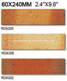 De Gespleten Tegel van de klei voor BuitenBaksteen 60*240mm Rd6205 van de Muur