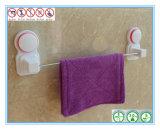 Única barra de toalha fixada na parede da cremalheira do armazenamento do suporte do trilho do banheiro