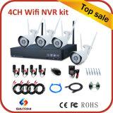 Sistema de cámara 1080P 4 canales de Seguridad inalámbrica de 2,4 GHz Kit WiFi NVR
