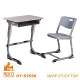 Escritorio y silla, muebles de los conjuntos de la escuela (aluminuim ajustable)