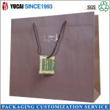 Sacchi di carta personalizzati del Kraft con la maniglia della corda del cotone